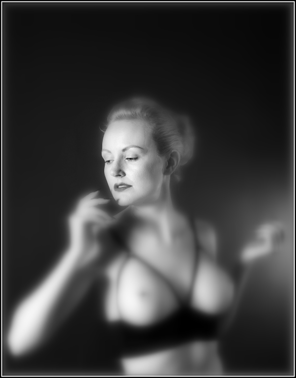 Artistic Nude, Studio, Monochrome,Woman