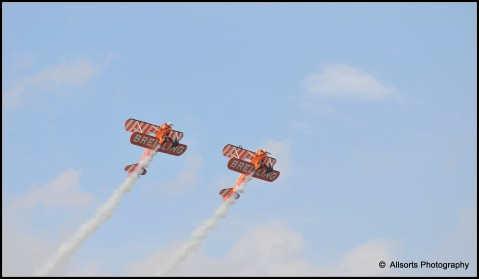 Wing Walkers at Air Show